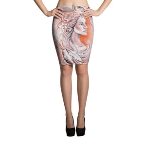 Pencil Skirt Pueo Goddess