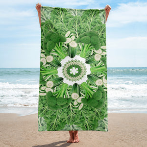 Towel Dark Green Mandala