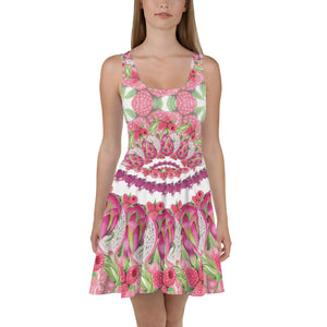 Skater Dress Pink Mandala low top