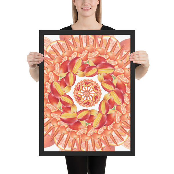 Framed photo paper Orange
