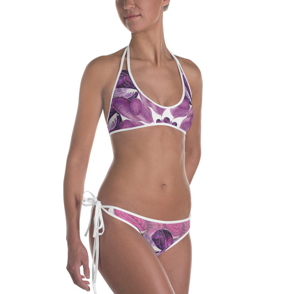 Reversible Purple and Yellow Bikini