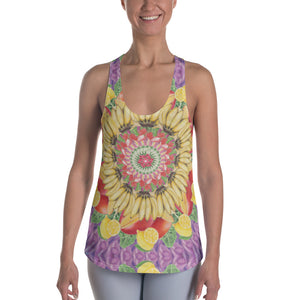 Women's Racerback Tank Multi-Fruit Purple