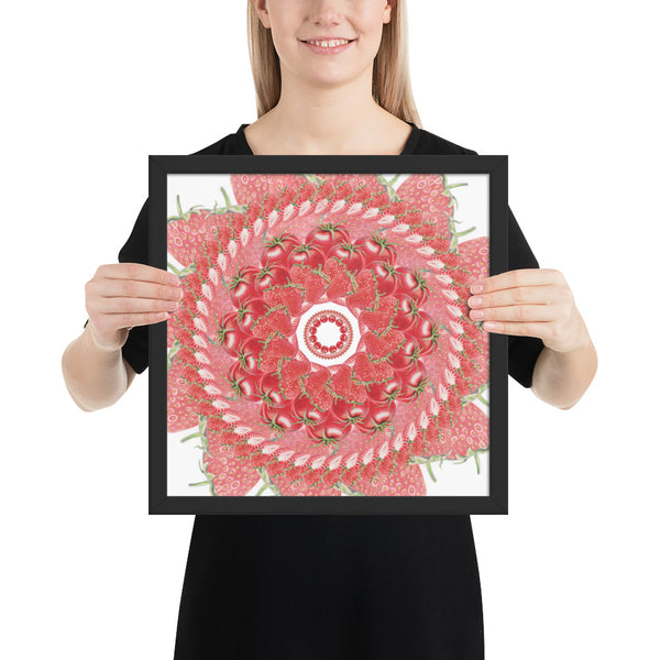Framed photo paper Red