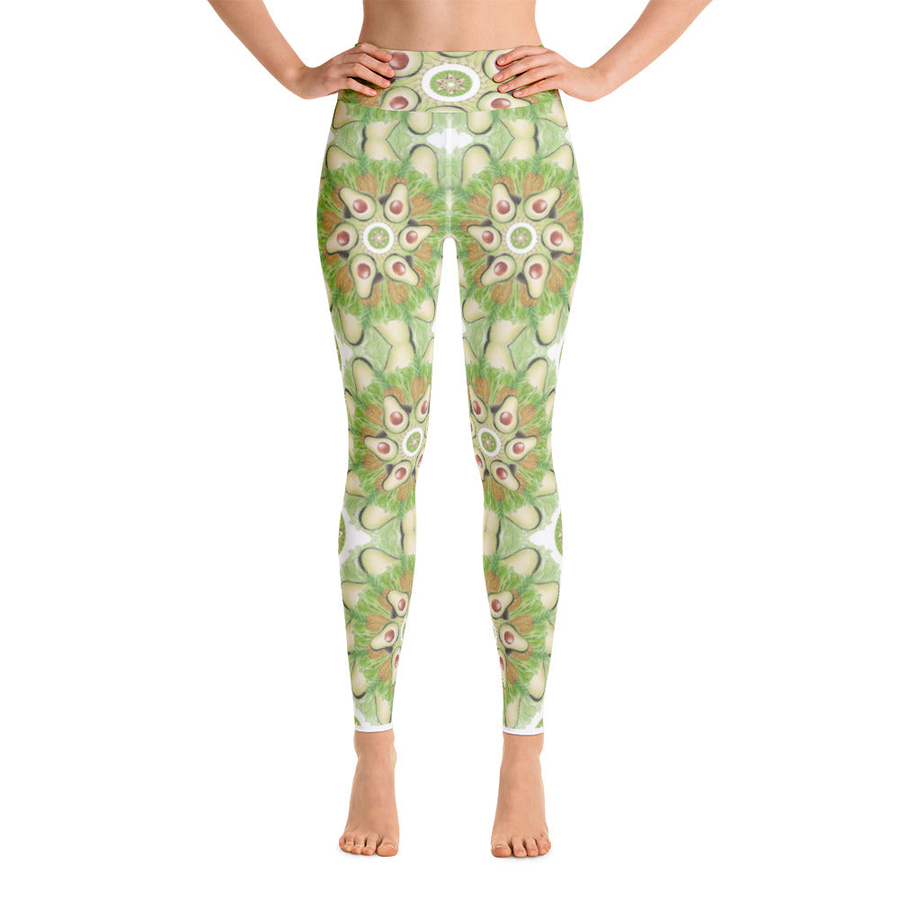 Light Green Grid Yoga Leggings