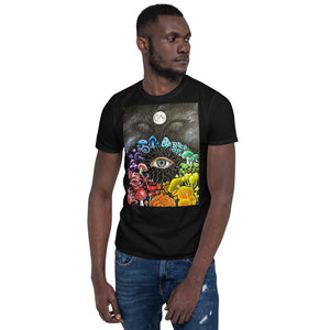 Rainbow Mushroom Short-Sleeve Unisex T-Shirt