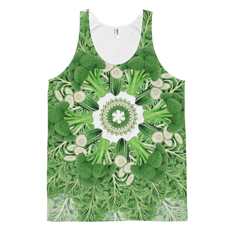 Classic fit tank top Green