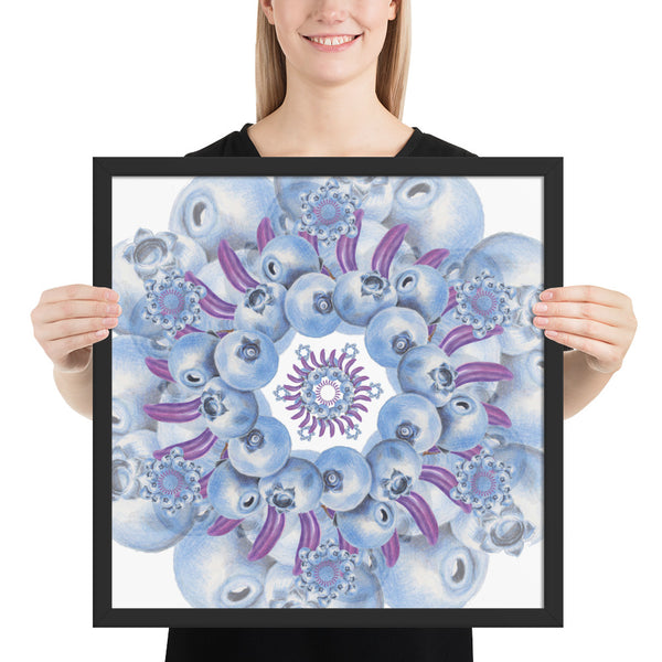 Framed photo paper Blue