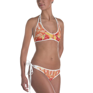 Reversible Orange and Blue Bikini