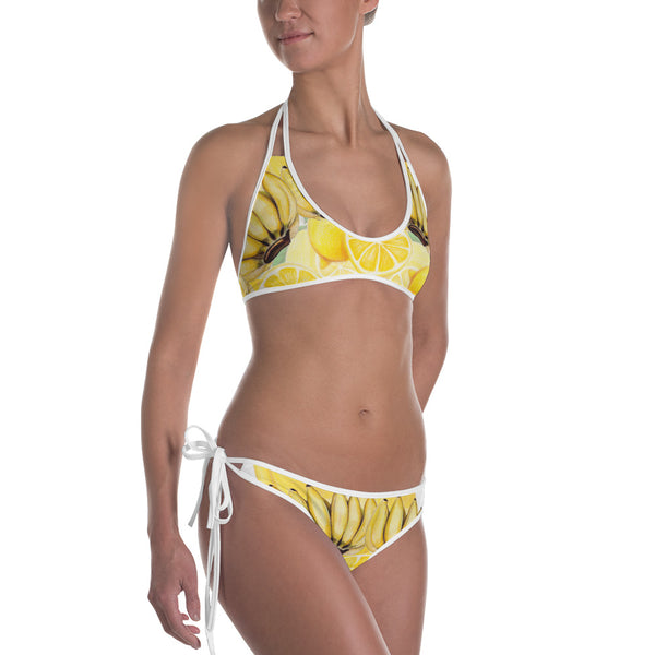 Reversible Yellow and Pink Bikini