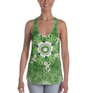 Women's Racerback Tank Dark Green