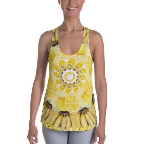 Women's Racerback Tank Yellow