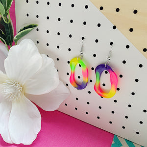 Kid Colour Fluoro Dangle Earrings