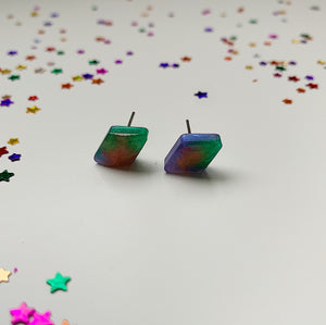 Diamond Colour Swirl Studs