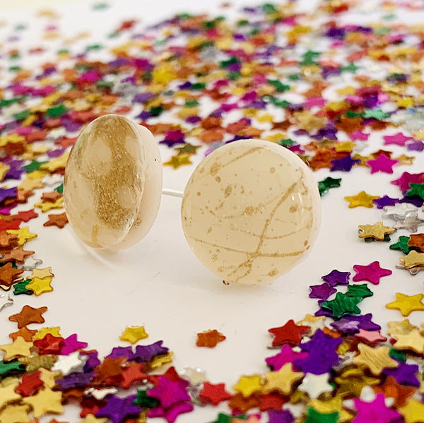 Gold Spatter Studs