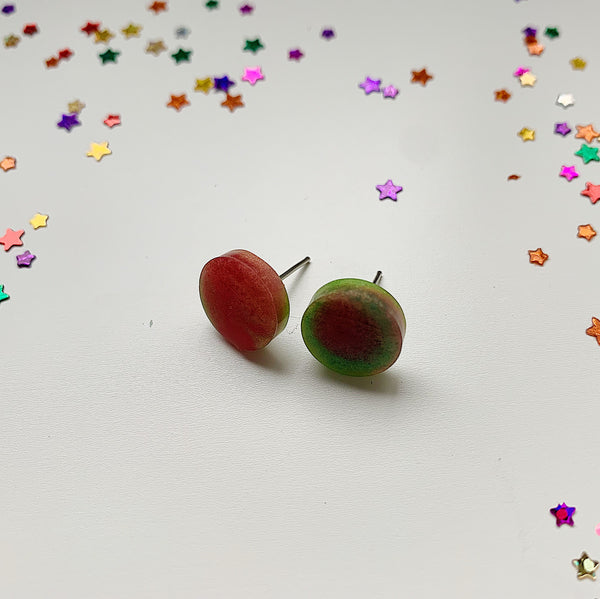 Red & Green Duo Stud