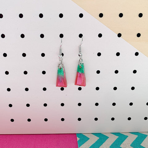 Watermelon Coral Resin Mini Dangles