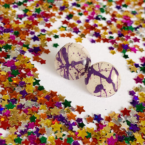 Royal Purple  Spatter Studs