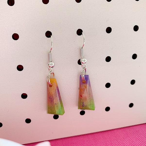 Colour Swirl Resin Mini Dangles