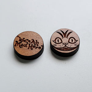 Mad Hatter Bamboo Studs