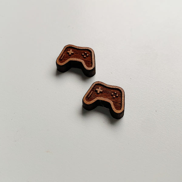 Video Game Controller Bamboo Studs