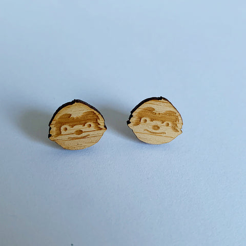 Sloth Bamboo Studs