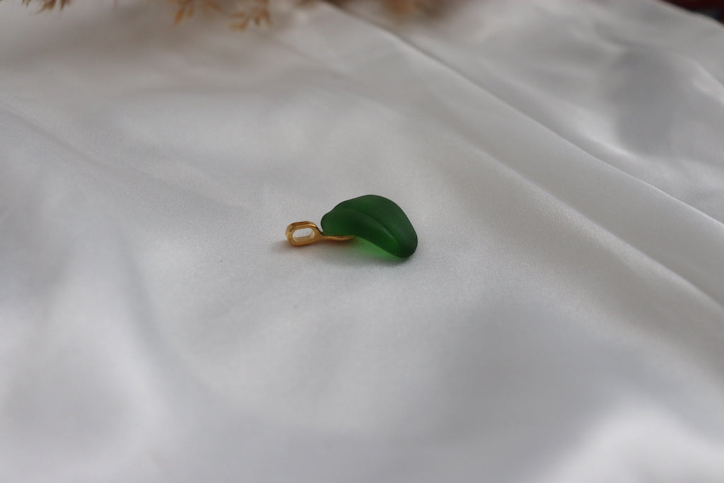 Emerald Sea Glass Pendant