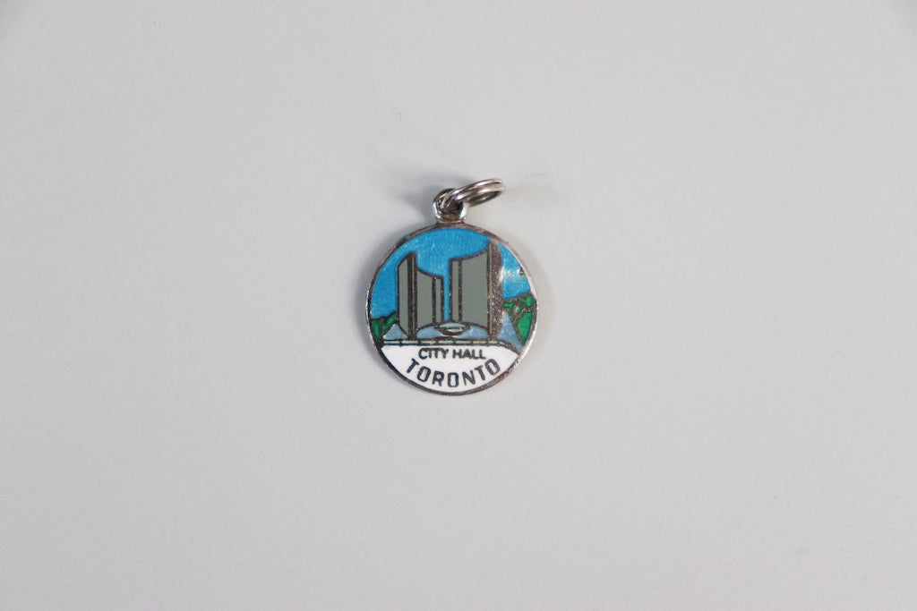 Enamelled Toronto City Hall Charm