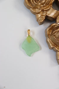 Green Sea Glass Pendant II