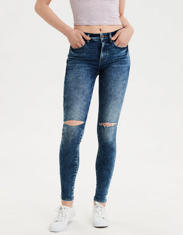 AE Super Soft High-Waisted Jegging in Shattered Breeze