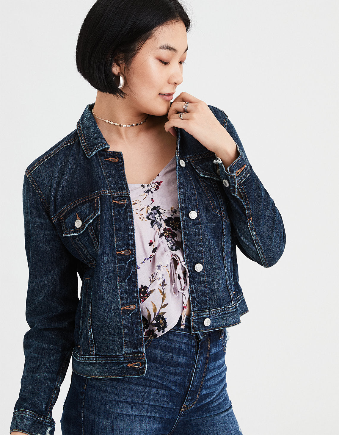 61e66a3161 AE Classic Denim Jacket in Blue