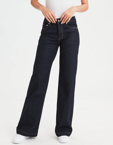 Wide Leg Jean in True Rinse