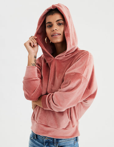 AE Cozy Ever After Hoodie in Rust