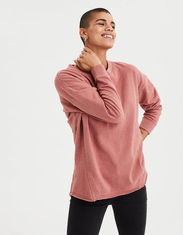 AE Ahh-mazingly Soft Oversized Crew Neck in Rust