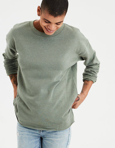 AE Ahh-mazingly Soft Oversized Crew Neck in Green