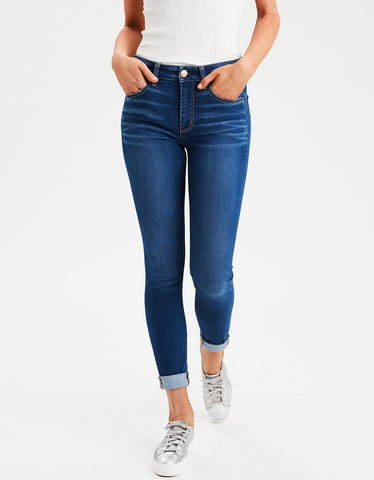 High-Waisted Jegging Crop in Darkness Falls