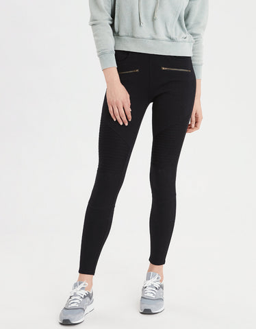 AE Pull-On High-Waisted Jegging in Black