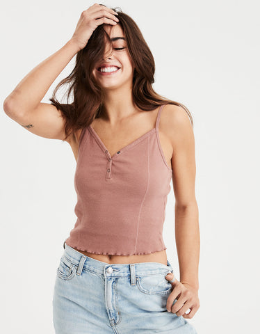 AE Henley Ribbed Cami in Blush