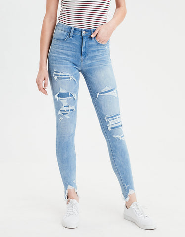AE 360 Ne(X)t Level Super High-Waisted Jegging in Ice Blue