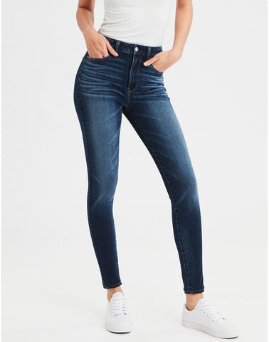 AE 360 Ne(X)t Level Super High-Waisted Jegging in Som Navy
