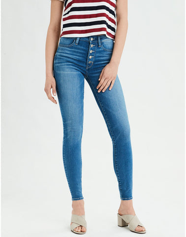 AE Ne(X)t Level Super High-Waisted Jegging in Fresh Bright