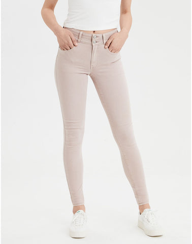 AE Ne(X)t Level High-Waisted Jegging in Pink Tint