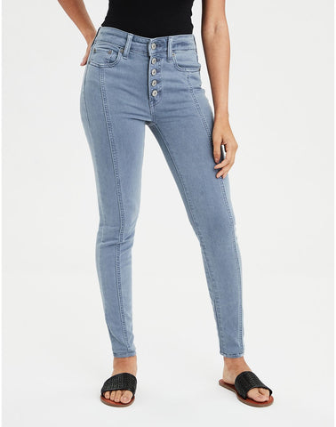 AE Ne(X)t Level High-Waisted Jegging in Blue