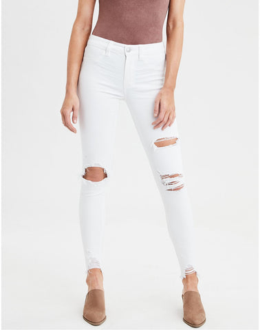 AE Ne(X)t Level High-Waisted Jegging in Cool White