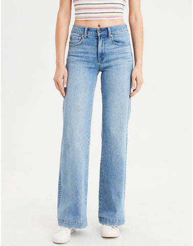 Wide Leg Jean in Light Vintage
