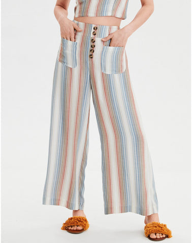 AE High-Waisted Palazzo Pant in Multi