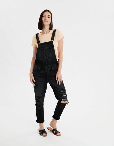 Tomgirl Denim Overall in Coal Camo