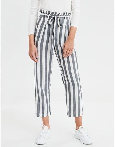 AE High-Waisted Paperbag Tapered Pant in Multi