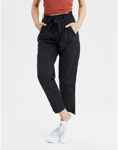 Tie Waist Pant in Smoked Gray