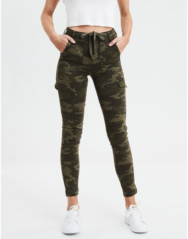 AE Ne(X)t Level Super High-Waisted Jegging Crop in Camo