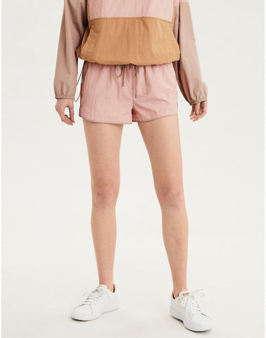 AE High-Waisted Nylon Short in Blush